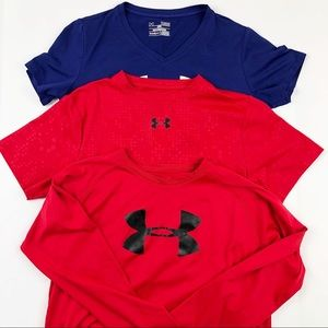 Under Armour Loose Fit Shirt Bundle of 3 Large